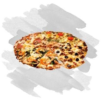 Pizzák fehér alappal